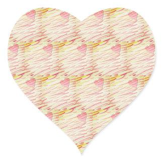 Flaming heart template heart sticker