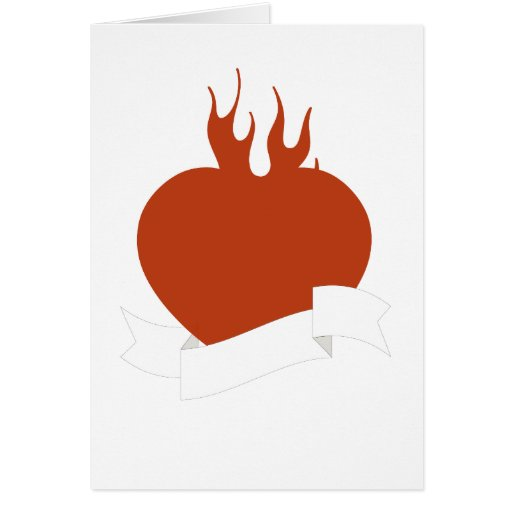 Flaming Heart valentine Card