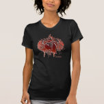 Flaming Heart & Wings RedONpink Twofer Shirts