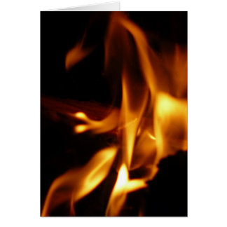 Flaming Hearts Stationery Note Card