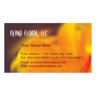 flaming hibiscus ~ bc Double-Sided standard business cards (Pack of 100)
