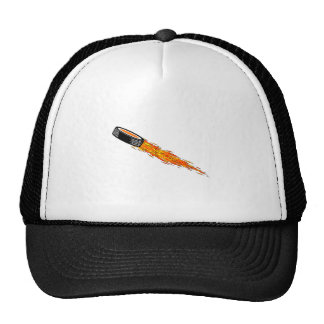 Flaming Hockey Puck Trucker Hat