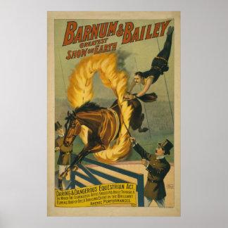 Flaming Horse Circus Poster