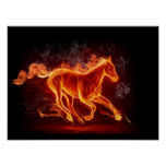 Flaming Horse Poster