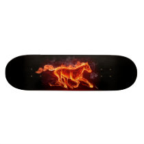 FLAMING HORSE SKATEBOARD