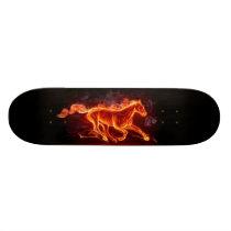 FLAMING HORSE SKATEBOARD DECK