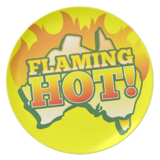 Flaming Hot AUSTRALIA! From The Aussie Shop Dinner Plate