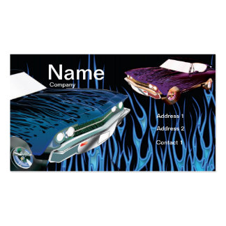 Flaming Hot Autobody Business Card template