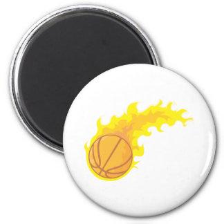 Flaming Hot Basketball Magnet