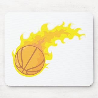 Flaming Hot Basketball Mouse Pad