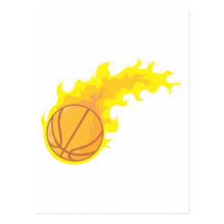 Flaming Hot Basketball Postcard