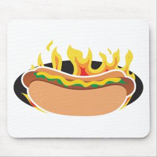 Flaming Hot Dog Mouse Pad