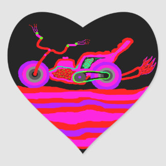 Flaming Hot NEON MOTORCYCLE STICKER