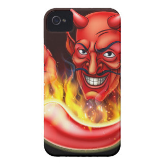 Flaming Hot Pepper and Pointing Devil Case-Mate iPhone 4 Case
