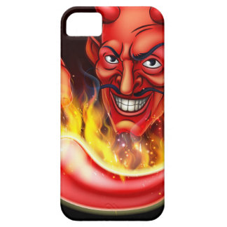 Flaming Hot Pepper and Pointing Devil iPhone SE/5/5s Case