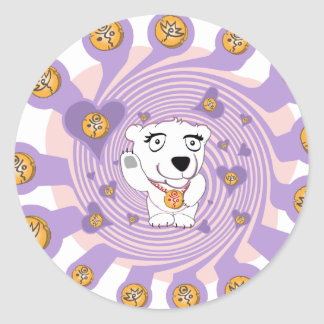 Flaming Igloo Animated Polly Love Alive Classic Round Sticker