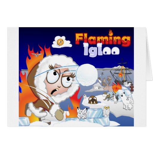 Flaming Igloo Game Image Cards