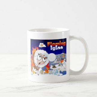 Flaming Igloo Game Image Coffee Mug