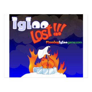 Flaming Igloo Lost Postcard