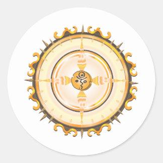 Flaming Igloo Love Symbol Totem Classic Round Sticker