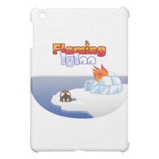 Flaming Igloo Oval Walrus Scene iPad Mini Covers