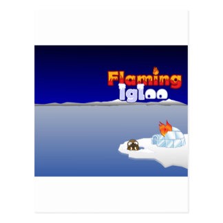 Flaming Igloo Scenic Walrus Postcard