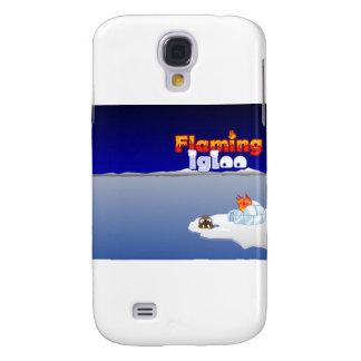Flaming Igloo Scenic Walrus Samsung Galaxy S4 Cover