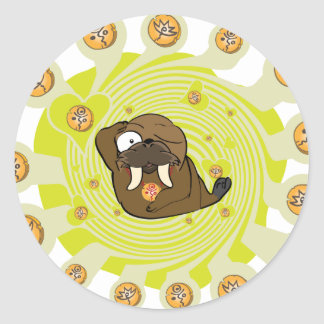 Flaming Igloo Wally Reanimated Classic Round Sticker