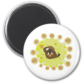 Flaming Igloo Wally Reanimated 2 Inch Round Magnet