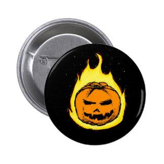 Flaming Jack O Lantern Pinback Button
