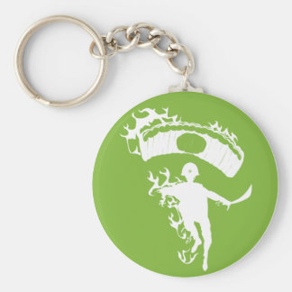 Flaming Japanese Zombie Paratrooper Keychain