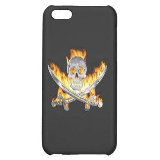 Flaming Jolly Roger iPhone 5C Cover