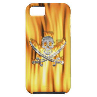 Flaming Jolly Roger iPhone SE/5/5s Case
