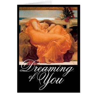 Flaming June - Blank Greeting Card