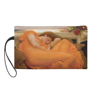 Flaming June by Frederic Leighton Wristlet Clutches