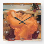"""""""Flaming June"""" by Frederic Leighton - Clock"""