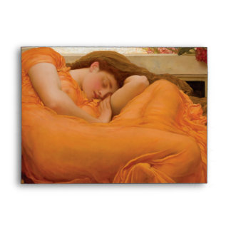Flaming June by Frederic Leighton Envelope