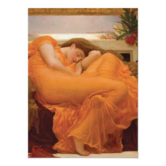 Flaming June by Frederic Leighton Customized Invitation Card