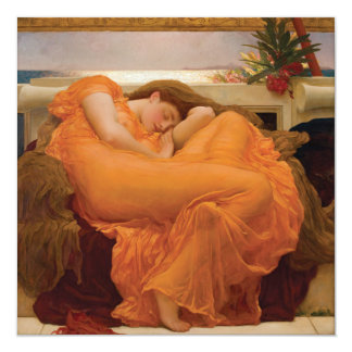Flaming June by Frederic Leighton Custom Invitation Cards