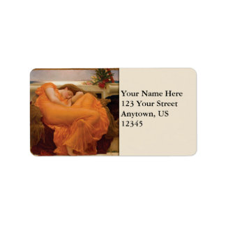Flaming June by Frederic Leighton Label