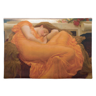 Flaming June by Frederic Leighton Placemats