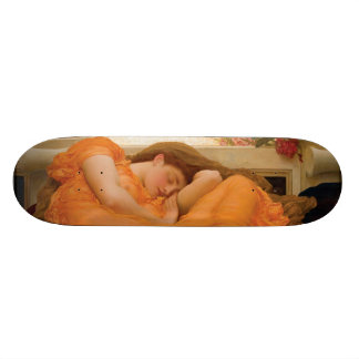 Flaming June by Frederic Leighton Skateboard