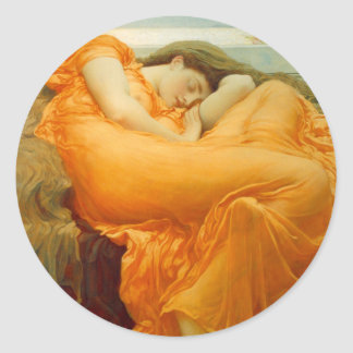 Flaming June by Frederick Leighton Classic Round Sticker