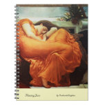 Flaming June by Frederick Leighton Notebook