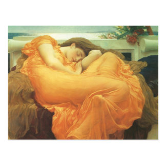 Flaming June by Leighton Vintage Victorian Art Post Cards