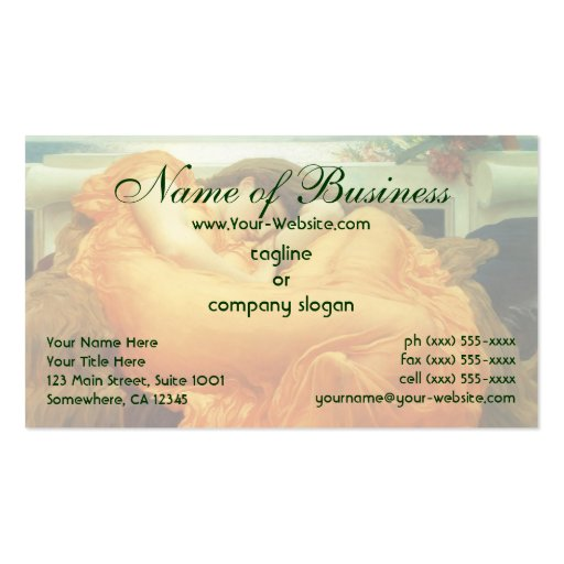 Flaming June by Lord Frederic Leighton Double-Sided Standard Business Cards (Pack Of 100)