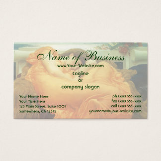Flaming June by Lord Frederic Leighton Business Card