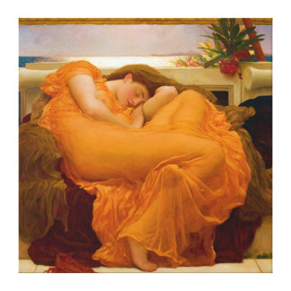 Flaming June by Sir Frederic Leighton Canvas Print