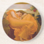 Flaming June by Sir Frederic Leighton Drink Coaster