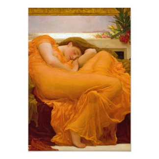 Flaming June by Sir Frederic Leighton 5x7 Paper Invitation Card